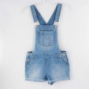 Blue Spice Light Blue Overall Shorts